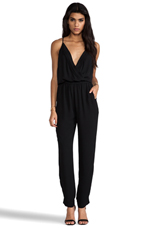 Jumpsuit with Pleating in Black