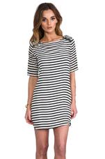Cara Striped Dress in Black