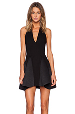 Front Cover Dress in Black
