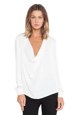 Gazing Drape Shirt in White