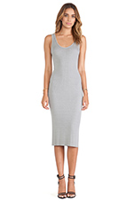 Rib Tank Dress in Cement