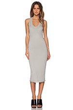 Bold Doubled Racer Dress in Grigio