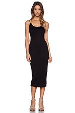 Doubled Strap Tank Dress in Black
