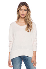 Cashmere Loose Crew in Oyster