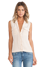 Slim Signature Sleeveless Blouse in Nude