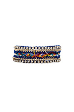 Crystal Friendship Bracelet in Gold & Cobalt Multi