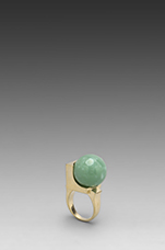 Cyrstalline Orb Ring in Green Alexandrite