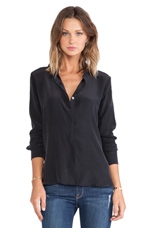 FRAME Shirt Le Classic Top in Noir