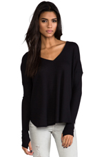Robin Thermal with Thumb Holes in Black