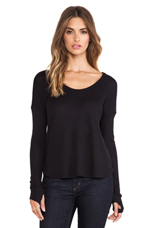 Cameron Thermal Top in Black
