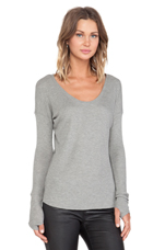 Cameron Thermal Top in Heather Grey