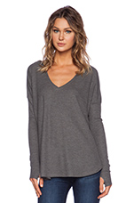Robin Thermal with Thumb Holes in Medium Heather