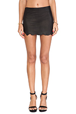 Wolfpack Leather Skirt in Black