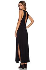 Chrome Maxi Dress in Black