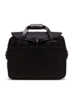 The Black Collection Twill Large Briefcase/ Computer Case in Black