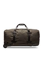 Nylon Wheeled Duffle Bag in Otter Green