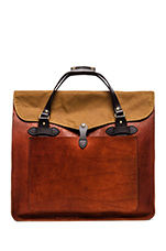 Large Leather Tote in Cognac