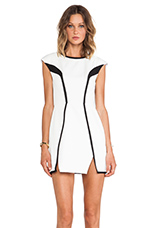 By The Way Dress in White & Black