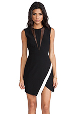 Coming Home Sleeveless Dress in Black/Ivory