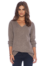 V Neck Sweater in Heather Ashes