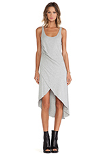 Babin' Cross Over Dress in Grey Marle