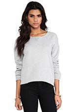 Sloppy Joe Sweatshirt in Light Grey Marle