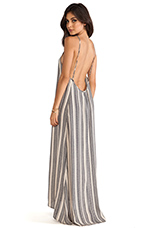 Scoop Back Maxi Dress in Pepple Stripe