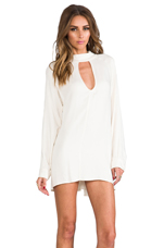 Charming Loose Fit Cut-Out Dress in Ivory