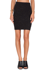Snow Flurry Pencil Skirt in Black