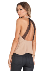 Topanga Halter Top in Camel