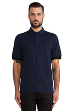 Industrial Dot Shirt in French Navy