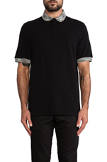 Misregistered Tipping Shirt in Black