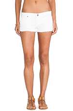 Jeanie Run Short in White