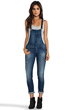 Hipster Overall with Leather Strap in Japan Blue