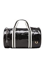 Classic Barrel Bag in Black & Ecru