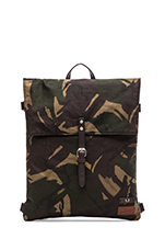 British Millerain Knapsack in Hunting Green Camo