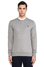 Quilted Marl Sweatshirt in Steel Marl