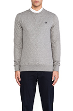 Quilted Marl Sweatshirt in Steel Marl