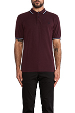 Twin Tipped Fred Perry Shirt in Navy Port Tonic & Glacier/ Port