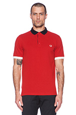 Colour Pop Pique Shirt in Wallace Red