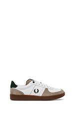 Topspin Leather/ Suede Sneaker in White & Tartan Green