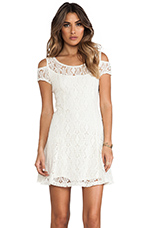 Kiss The Sun Off Shoulder Dress in Ivory