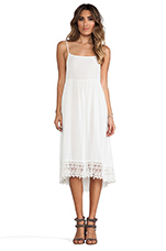 Easy Breezy Crochet Hem Dress in Ivory