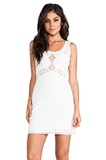 Daisy Chain Shift Dress in White Combo