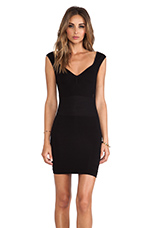 Bodycon Slip Dress in Black
