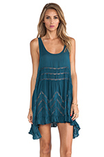Trapeze Slip in Deep Turquoise Combo