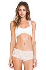 Crochet Racer Back Bra in White
