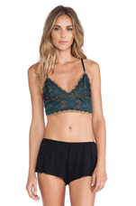 Shimmy Shimmy Two Tone Soft Bra in Deep Teal Combo