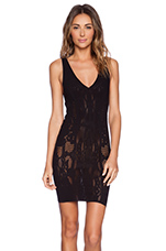 Bella Coachella Bodycon Slip Dress in Black