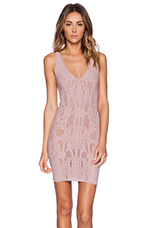 Bella Coachella Bodycon Slip Dress in Dusty Mauve